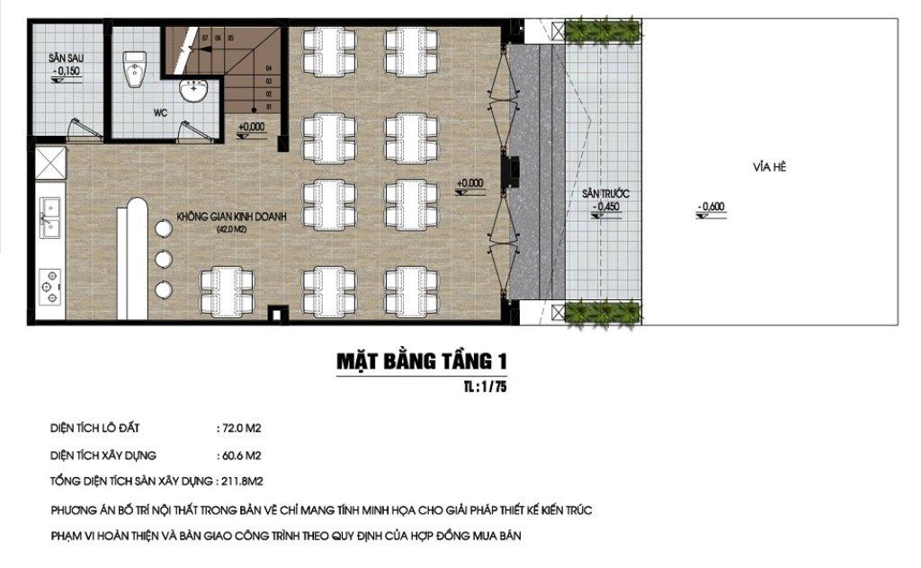 Thiết kế shophouse tại dự án nam 32 giai đoạn 2