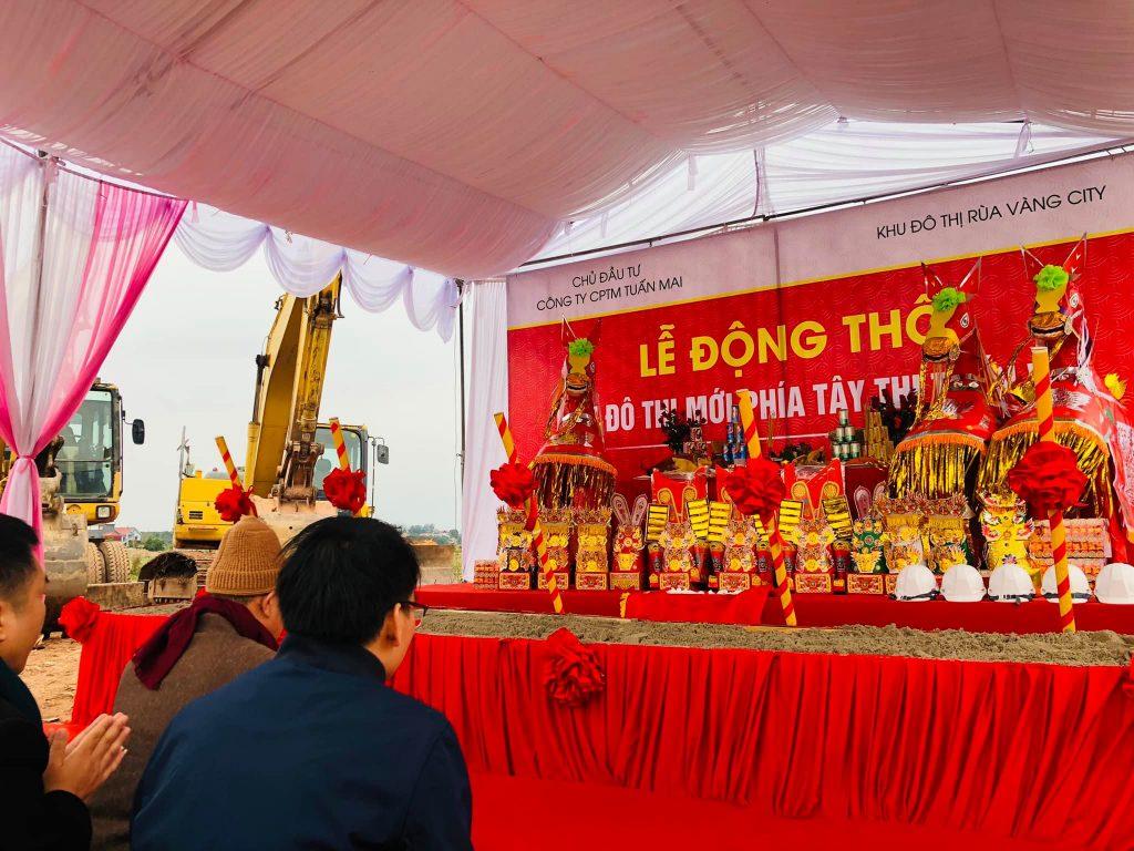 Lễ khởi công giai đoạn 2 khu đô thị Rùa Vàng City đã được diễn ra trước đó