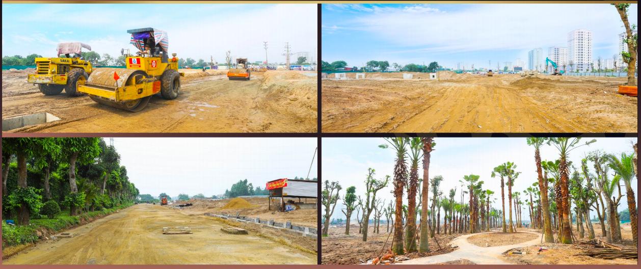 Tiến độ dự án khu đô thị Rùa Vàng Thị Trấn Vôi Giai đoạn 2